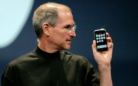 Steve Jobs unveiled Apple's eagerly-anticipated touch-screen phone in 2007